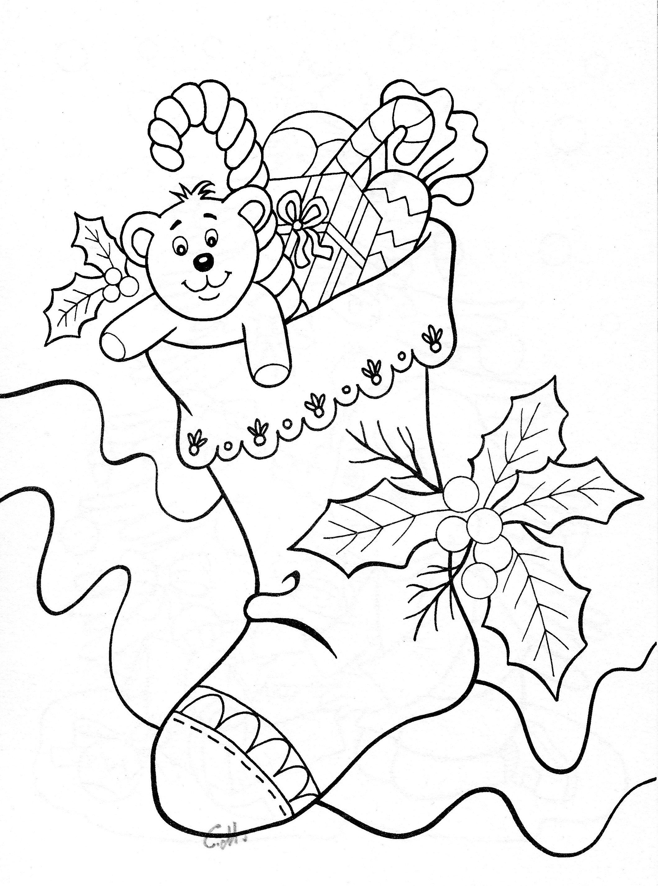 Stocking navidad pinterest digi stamps christmas coloring