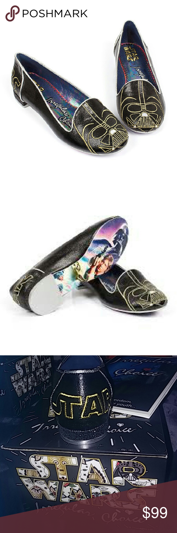 Nib Star Wars Darth Vader shoes This is a rare find new Star Wars Darth Vader shoes buy irregular choice super cute comes in its own authentic box perfect for a Christmas gift Disney Shoes