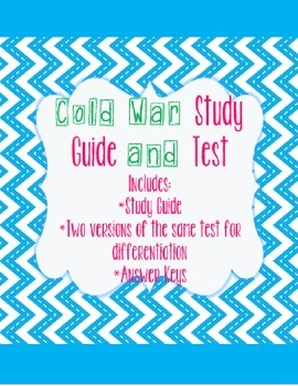 Cold War Study Guide and Test | 5th grade Social Studies