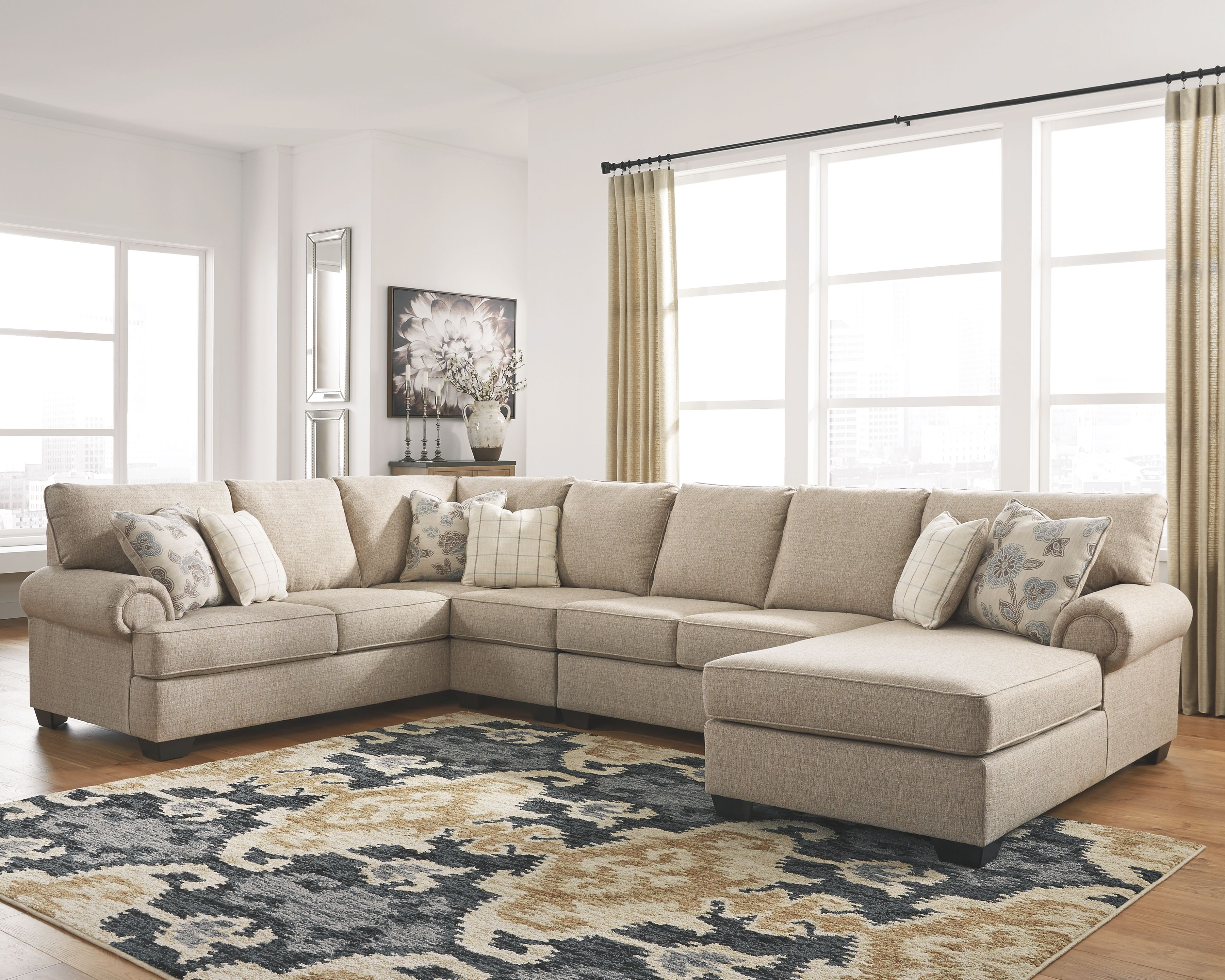 Best Baceno 4 Piece Sectional With Chaise Cheap Living Room 640 x 480
