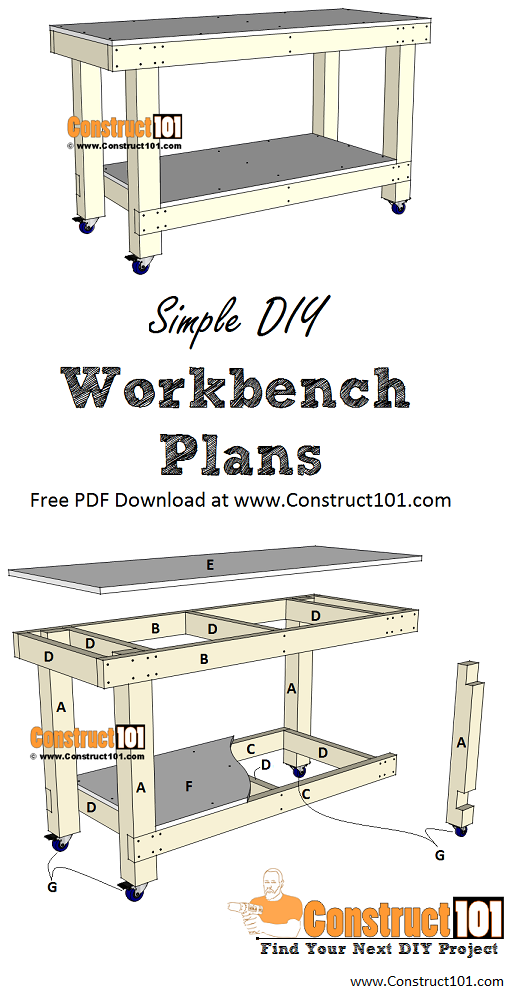 Simple Workbench Plans | PDF Download