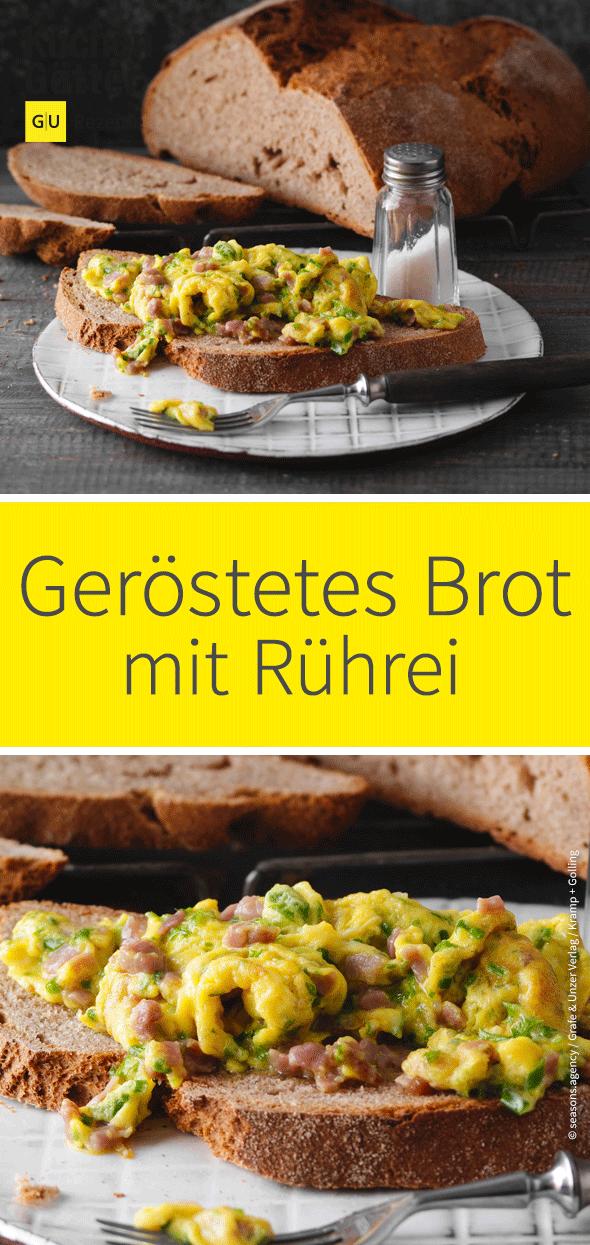 Gerostetes Bauernbrot Mit Ruhrei Johann Lafer Rezept Rezept Rezepte Rezeptideen Lebensmittel Essen