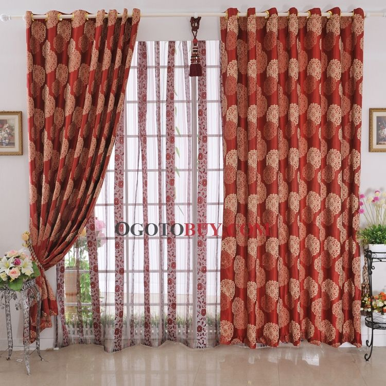 Red Print Curtain Panel Curtains Charming Printed Patterns