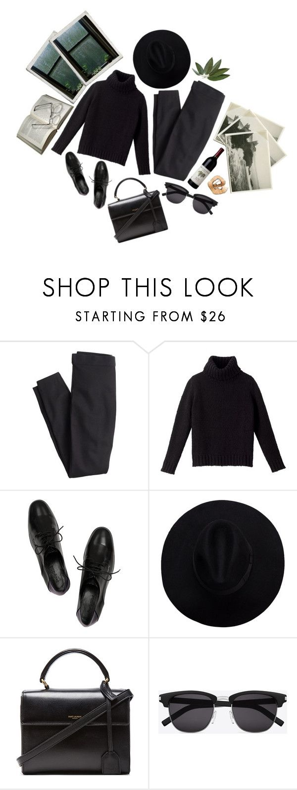 """Follow me to the dark"" by freakoholic ❤ liked on Polyvore featuring J.Crew, See by Chloé and Yves Saint Laurent"