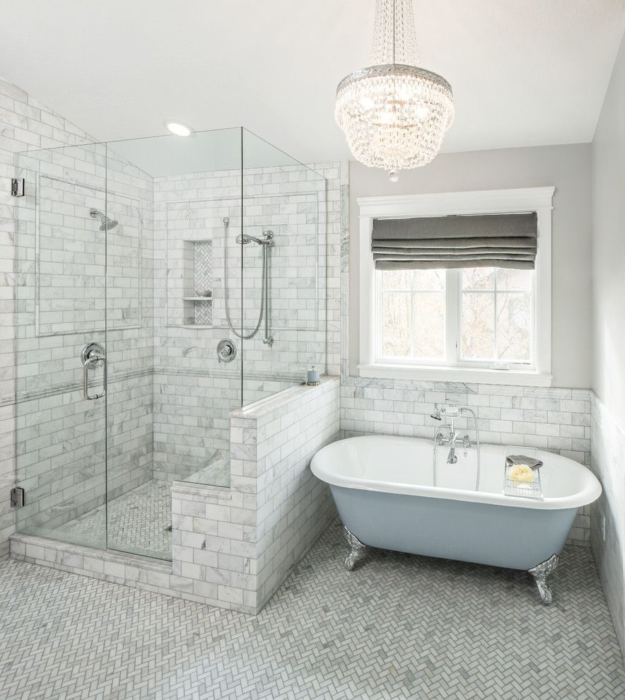 Bathroom:Innovative Bathroom With Subway Tiles And Glass Walls Also ...