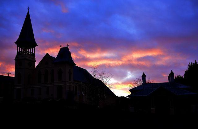 Early morning silhouette  Warragul, Victoria, Australia