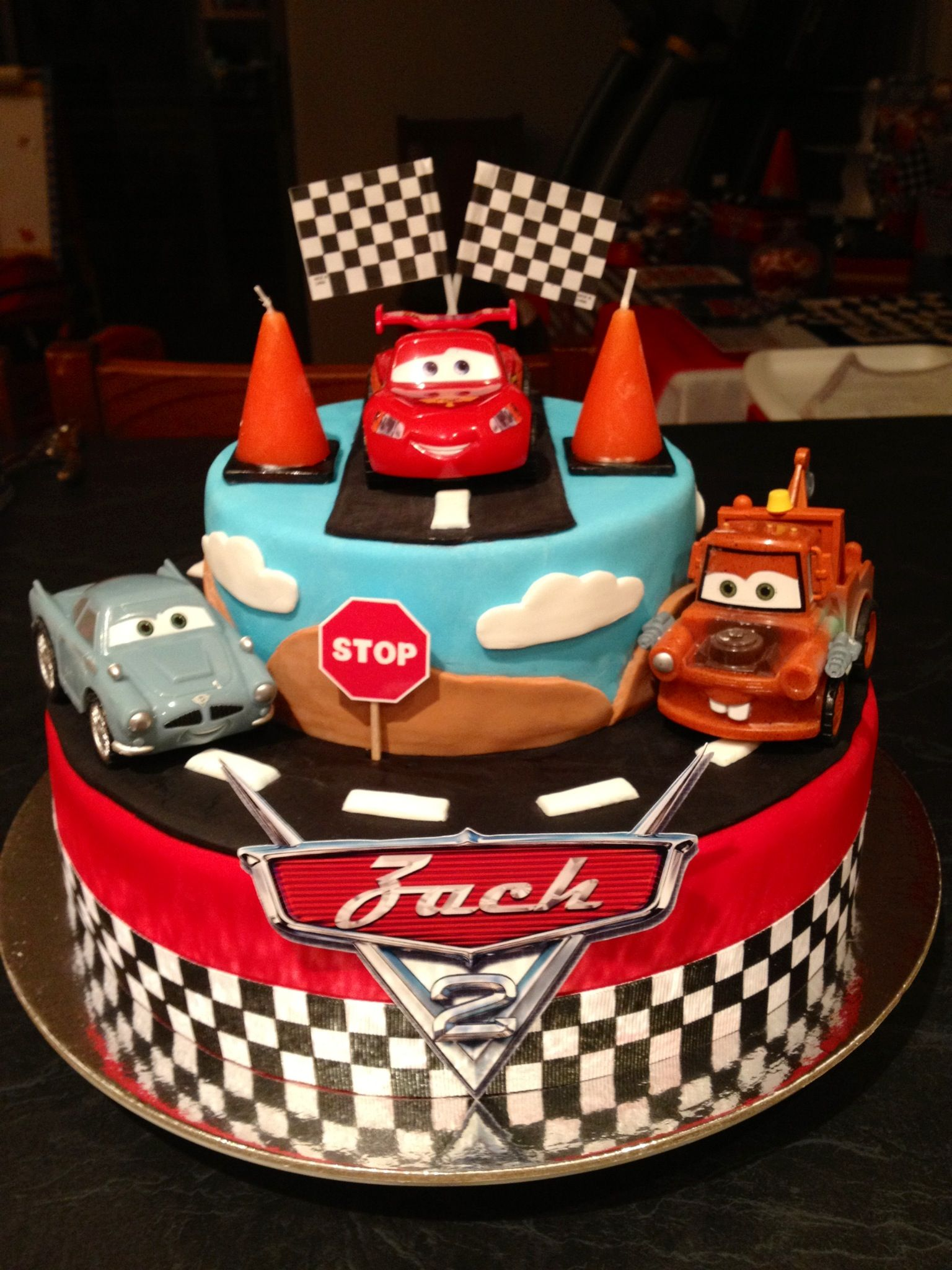 Disney Cars Cake Made By Me