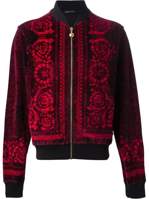 5695b6559460 Shop Versace baroque bomber jacket in Elite from the world's best  independent boutiques at farfetch.com. Over 1000 designers from 60  boutiques in one ...