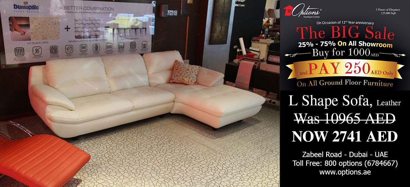 Big Sale At Options Furniture Center L Shaped Sofa Furniture Ground Floor