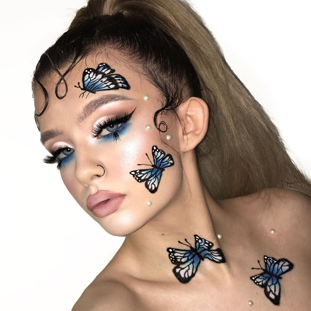 Magnetic Face Powder Palette Highlight In 2020 Creative Makeup Looks Butterfly Makeup Creative Makeup