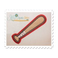 Baseball Bat Applique Double Satin