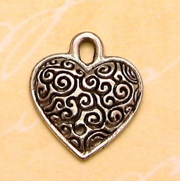 Heart Charm Antiqued Pewter 2 Pc 25 Off AP50 by FabBeads on Etsy, $1.87
