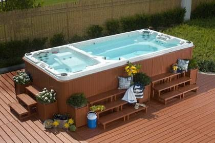 Yellowstone swim spas patio pinterest portable pools ground pools and spa for Legacy above ground swimming pools