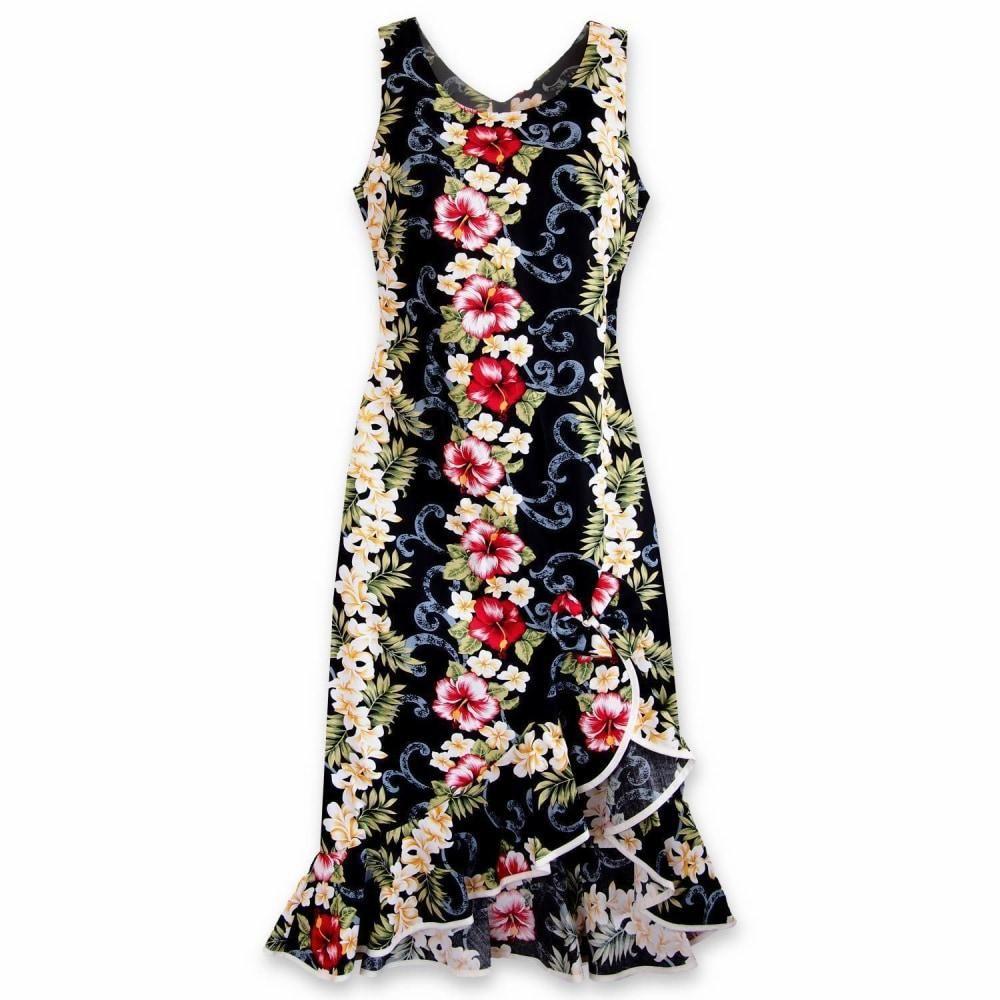 Black Mist Naniloa Hawaiian Dress Hawaiian Dress Dresses Aloha Dress [ 1000 x 1000 Pixel ]