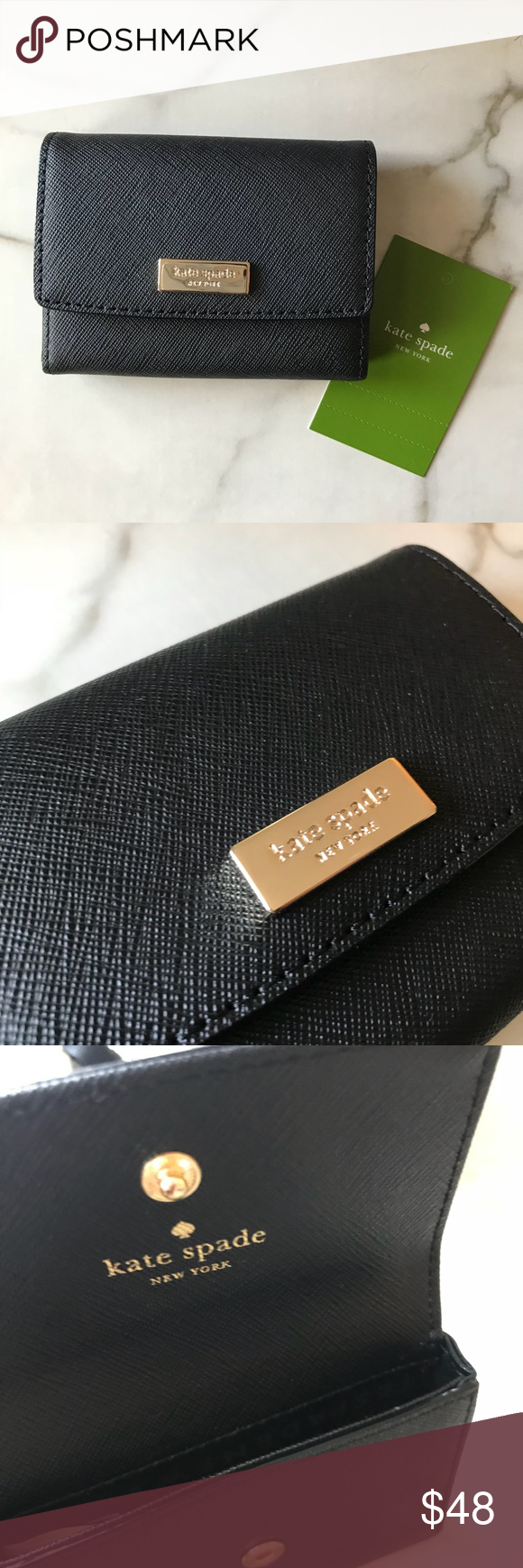 nwt kate spade business cardholder  card case nwt with
