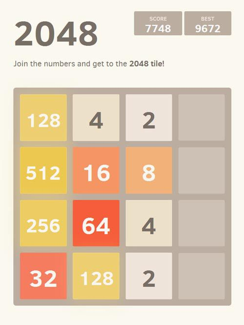 2048 for #Android. I like maths! Solid brain game #BMod