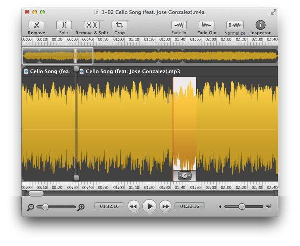 Rogue Amoeba's Fission 2 for quite a number of audio editing purposes// para un gran número de tus propositos de audio.