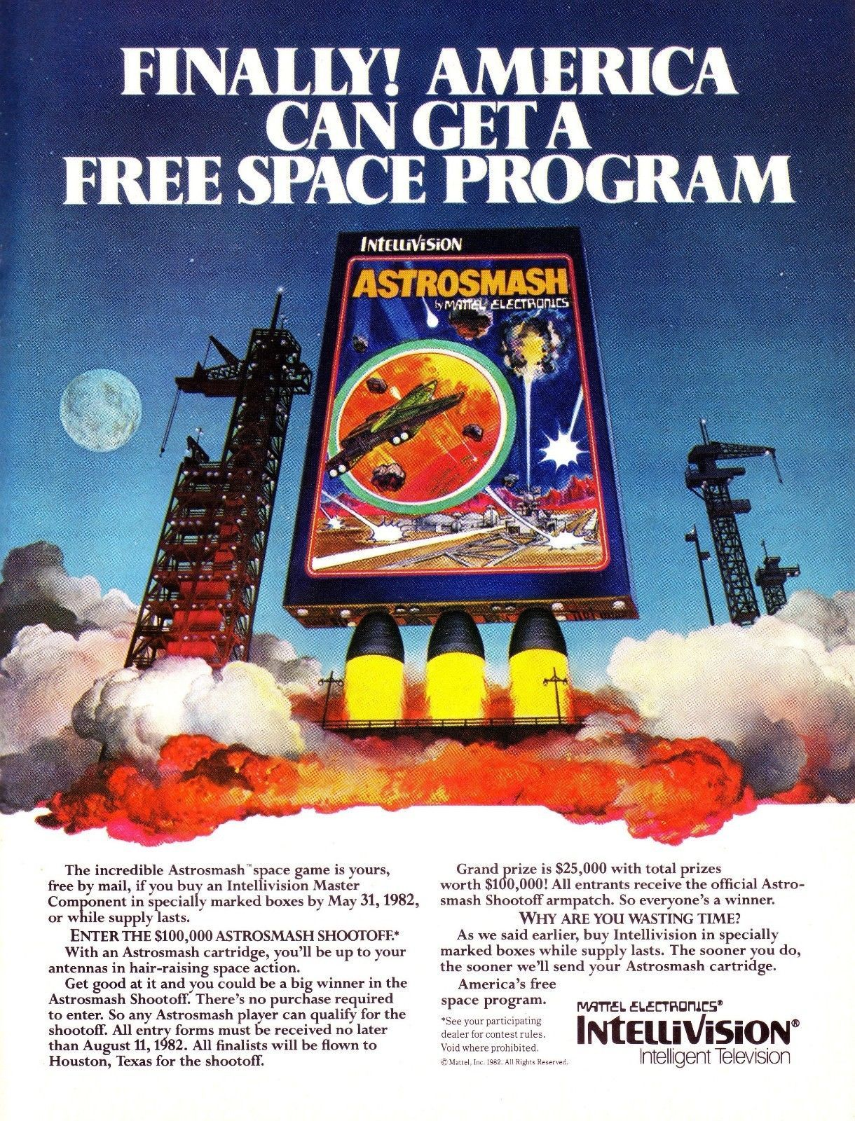 Mattel Intellivision Master Component Astrosmash video