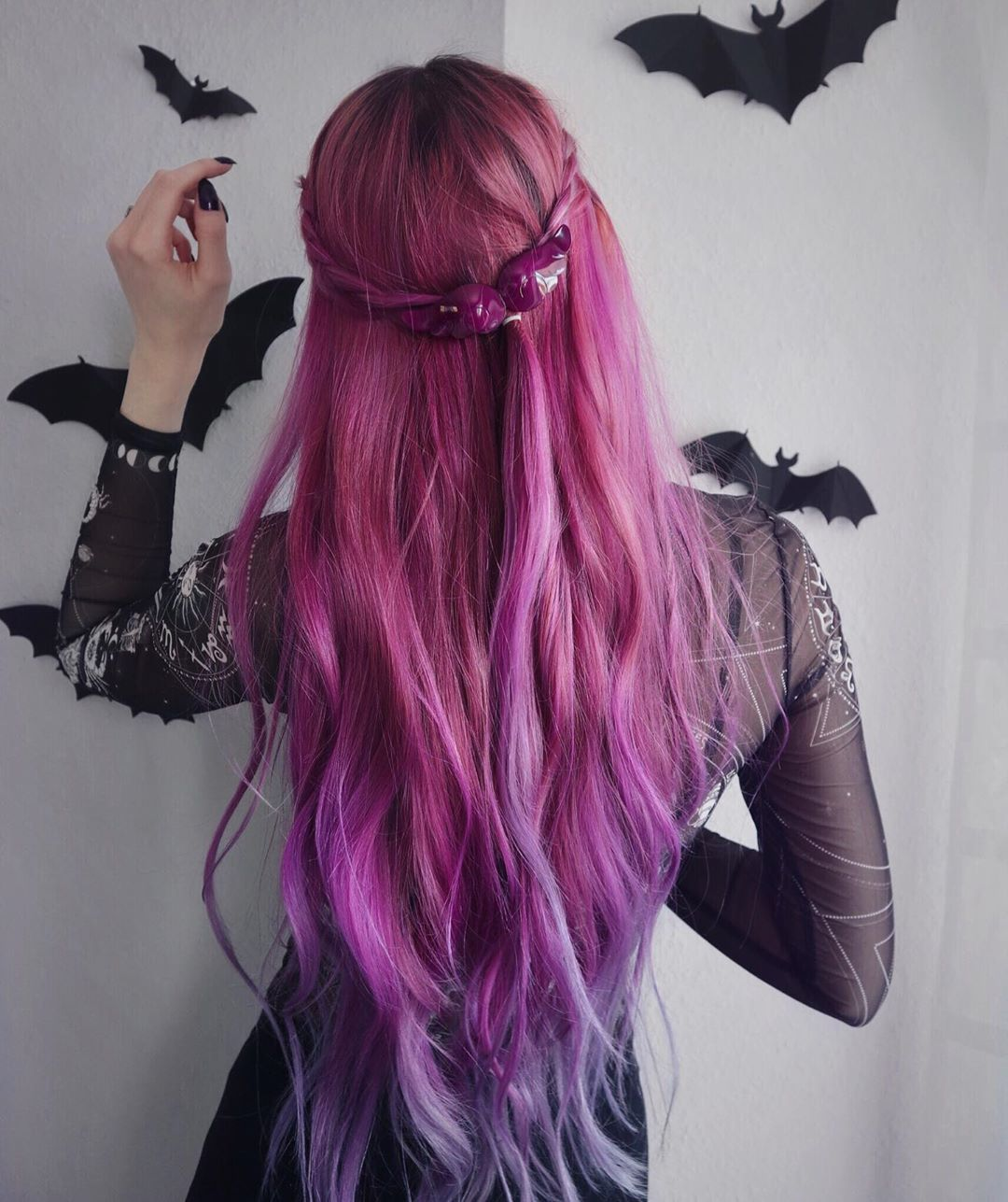 Faded Fuchsia Purple Hair Color With Images Thick Hair Styles