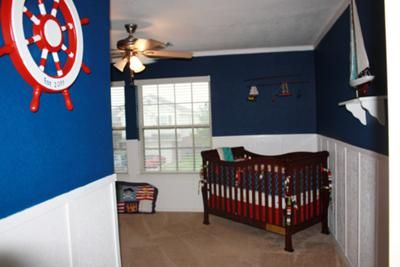 Great This Navy Blue, White And Red Nautical Sailboat Nursery Is A Star