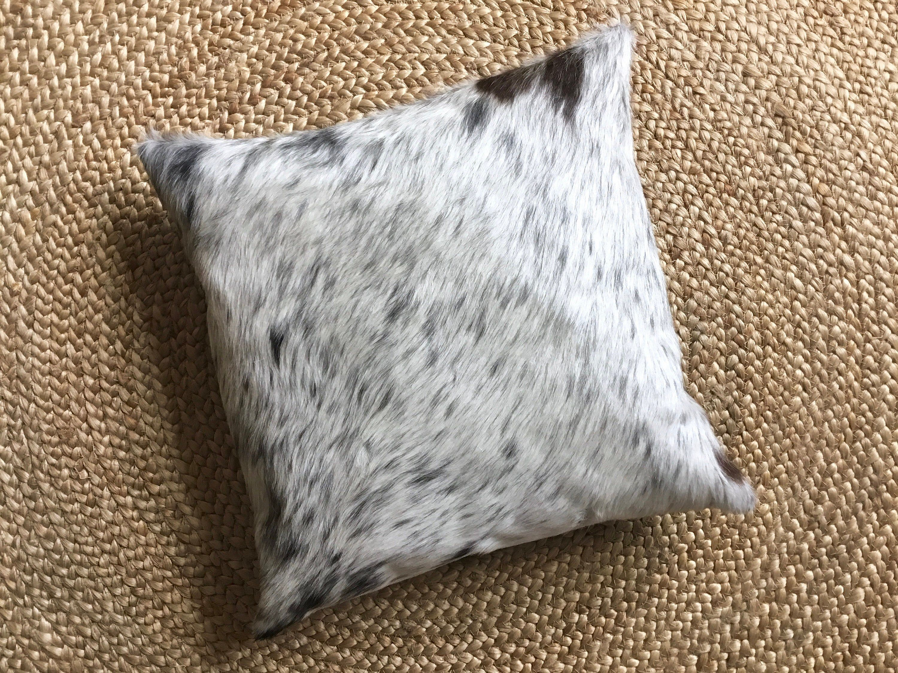 Decorative Cowhide Throw Pillow Cover Black White Cowhide Pillow