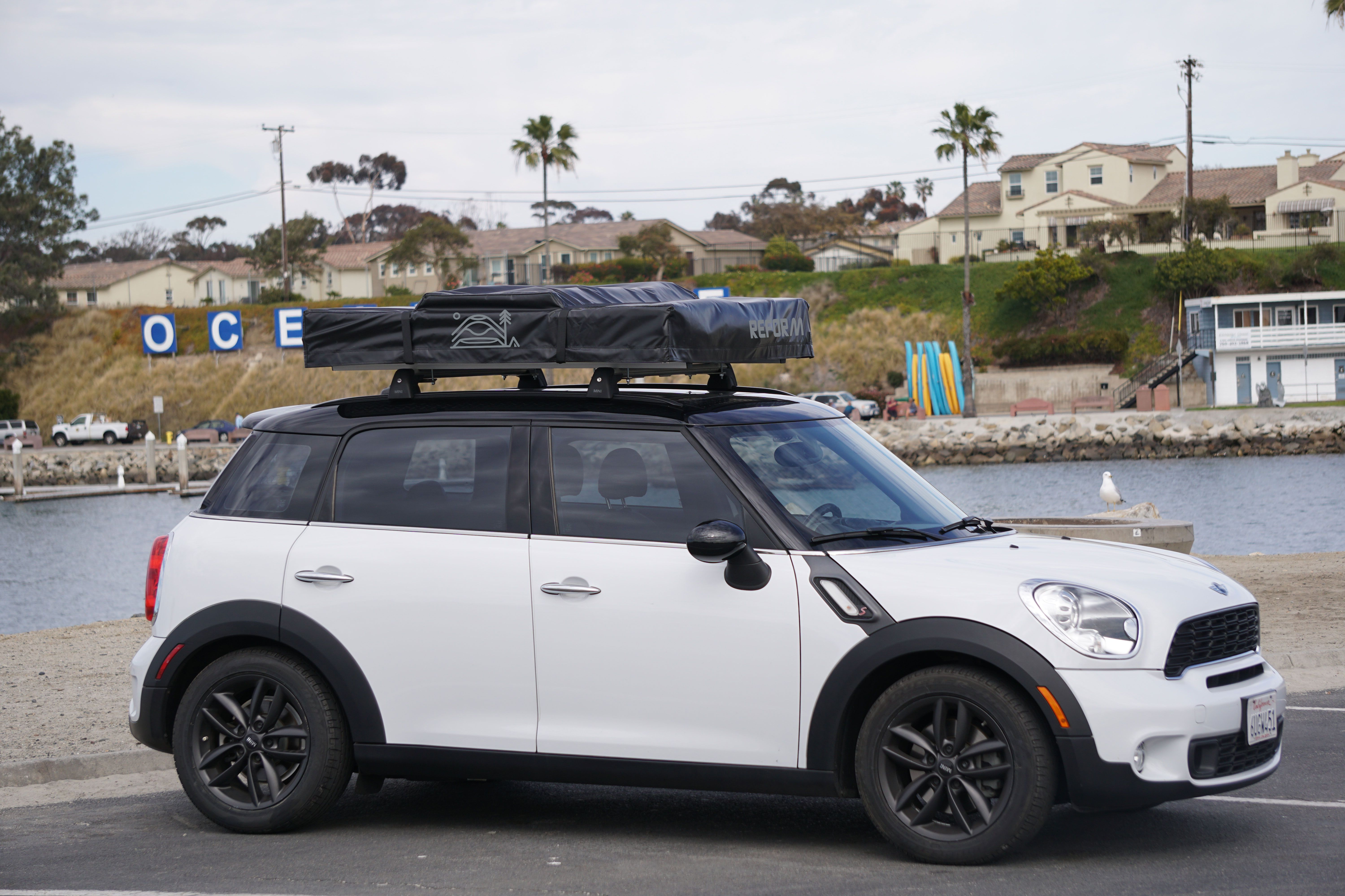 Nesty Roof Top Tent On Mini Cooper Countryman Roof Tent For Smaller Vehicles Oceanside Ca Roof Top Tent Fibreglass Roof Top Tents