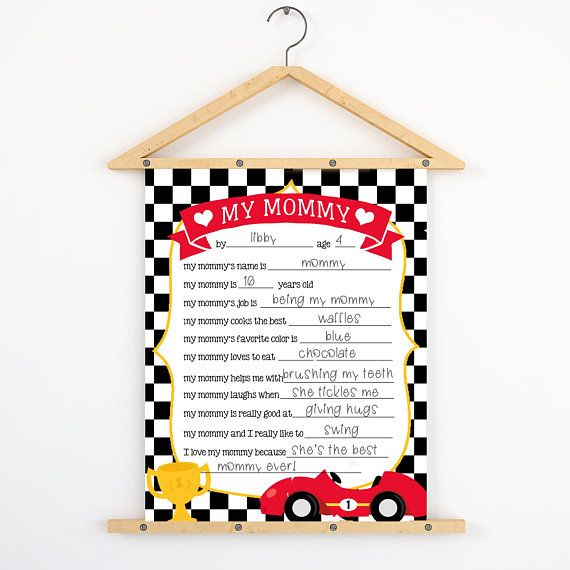 All About My Mommy Printable, All About My Mom Printable, Printable Motheru0027s  Day Questionnaire Instant Download, Boy Car, Fill In The Blank