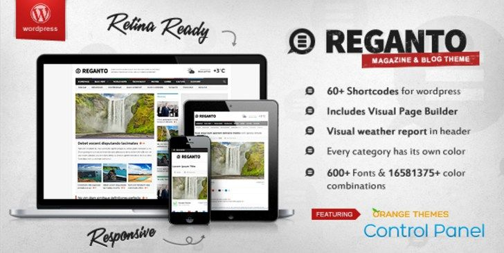 Reganto Massive Magazine Responsive WP Theme #premium wordpress ...