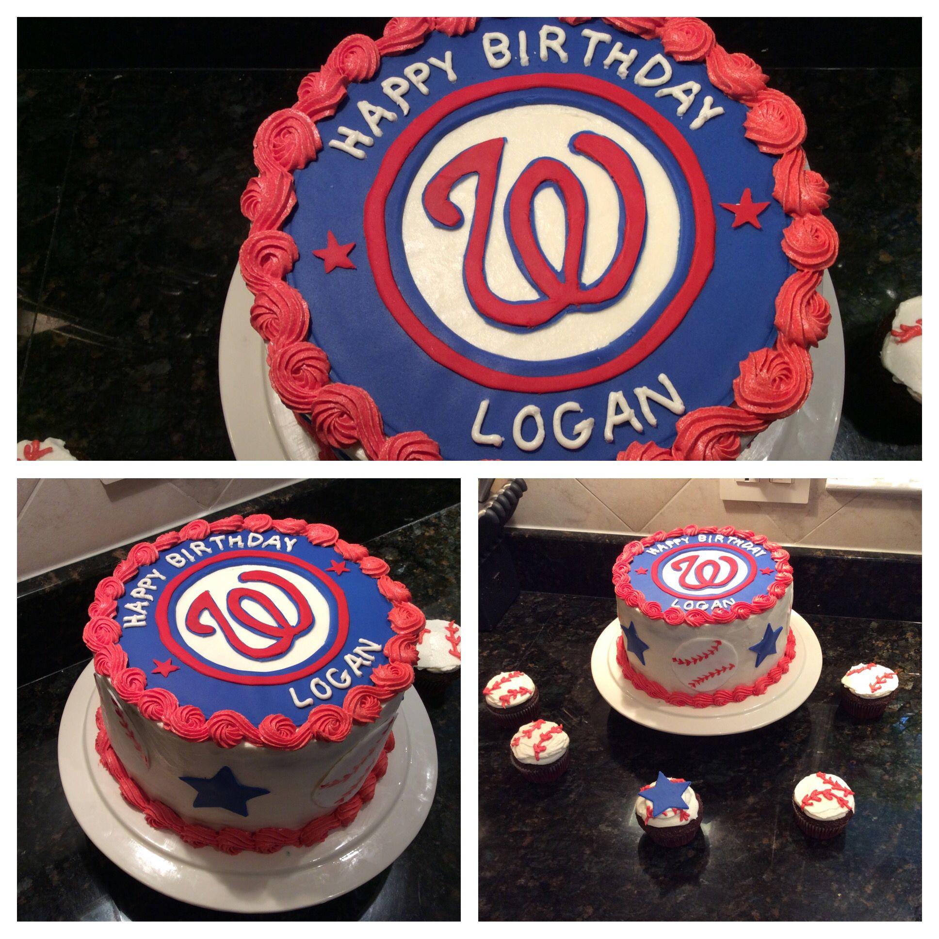Washington Nationals birthday cake Sweet Carolines Cakes Pinterest