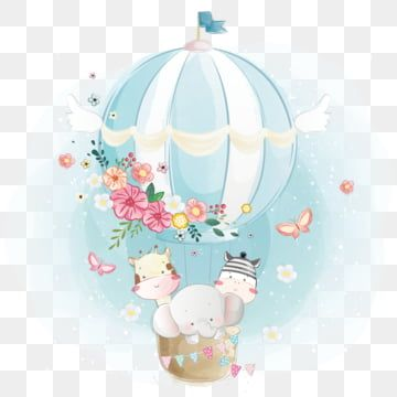 Cute Animals Flying With Air Balloon Baby Shower Clipart Animal Cute Png And Vector With Transparent Background For Free Download In 2021 Balloon Illustration Balloons Baby Animal Drawings