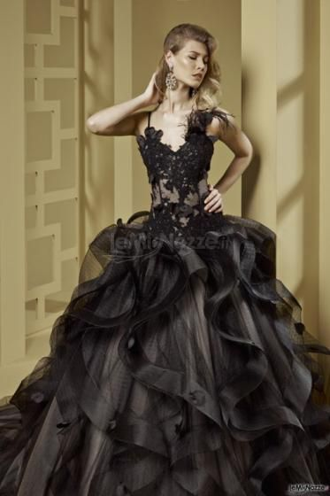 purchase cheap bf101 97b6d black ball gown wedding gowns | Abito da sposa nero sogno ...