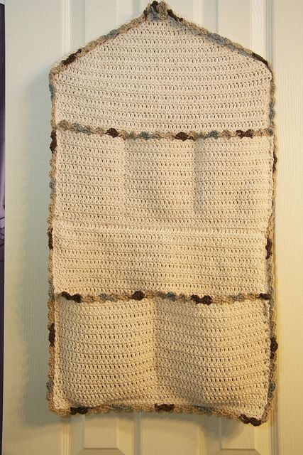 Crochet Pocket Organizer For Above Changing Table Or Could Just Make One In Cloth