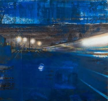 "Saatchi Art Artist Andrei Bludov; Painting, ""The midnight train"" #art"