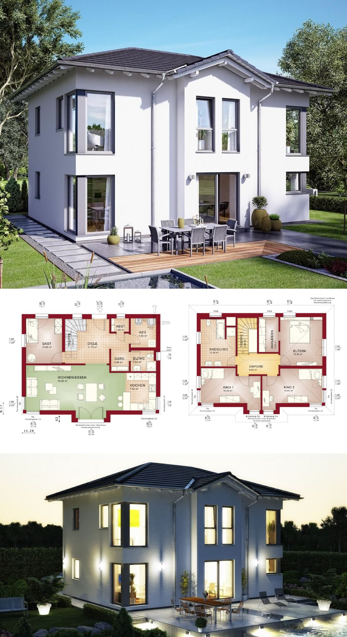 Stadtvilla modern haus evolution 148 v3 bien zenker for Stadtvilla modern