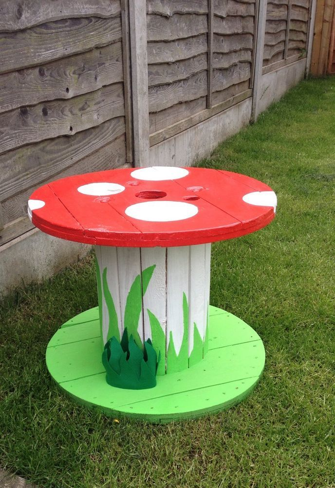Details About Garden Ornaments Mushroom Table