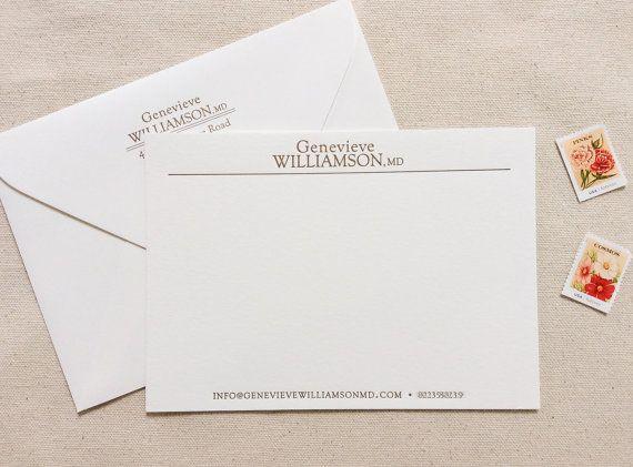Custom business note cards arts arts letterpress business letterhead 5x7 custom designed professional note cards colourmoves