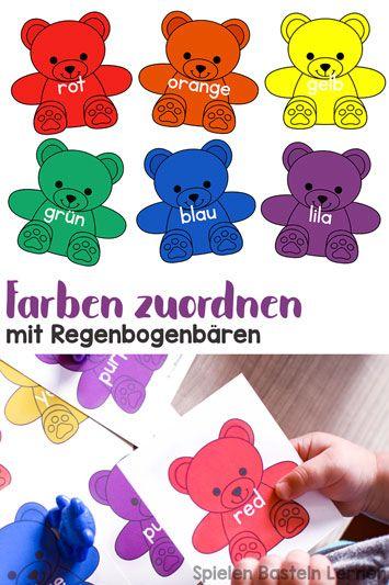 Farben zuordnen mit Regenbogenbären Projekte im