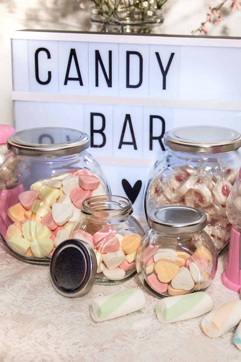 Jetzt shoppen! Süße Naschereien und Dekoration für die Candy Bar bei der Hoch…
