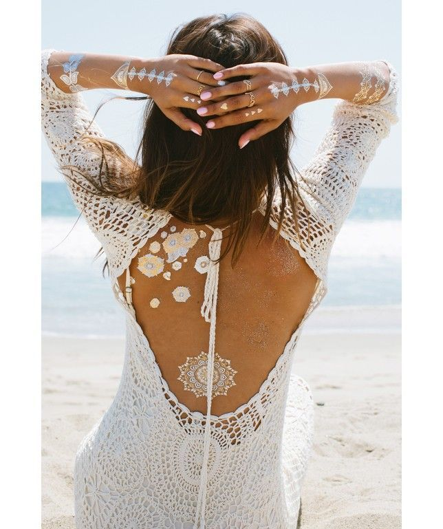 Lulu DK Moondance Tattoos temporary tattoos can be worn on the beach, or as an everyday accessory!