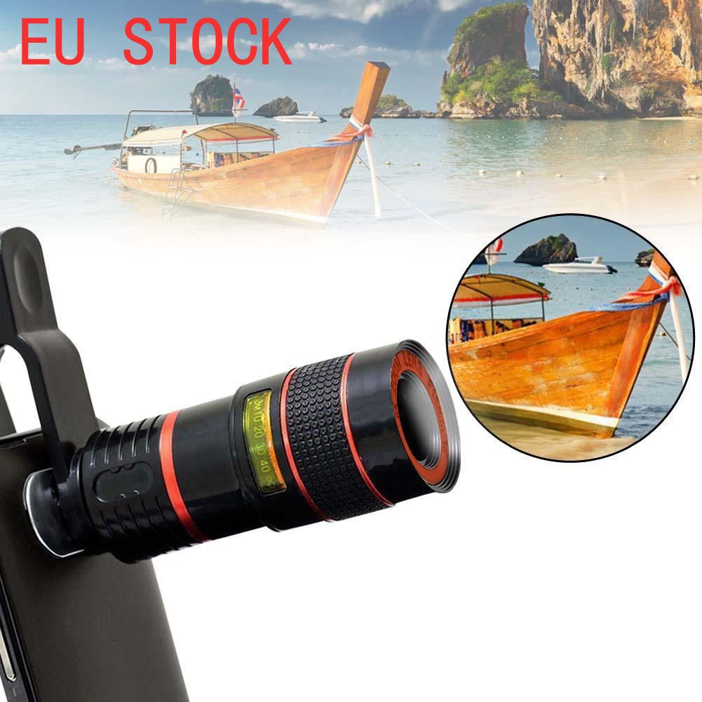 Eu Stock New Universal 8x 12x Optical Zoom Telescope Camera Lens