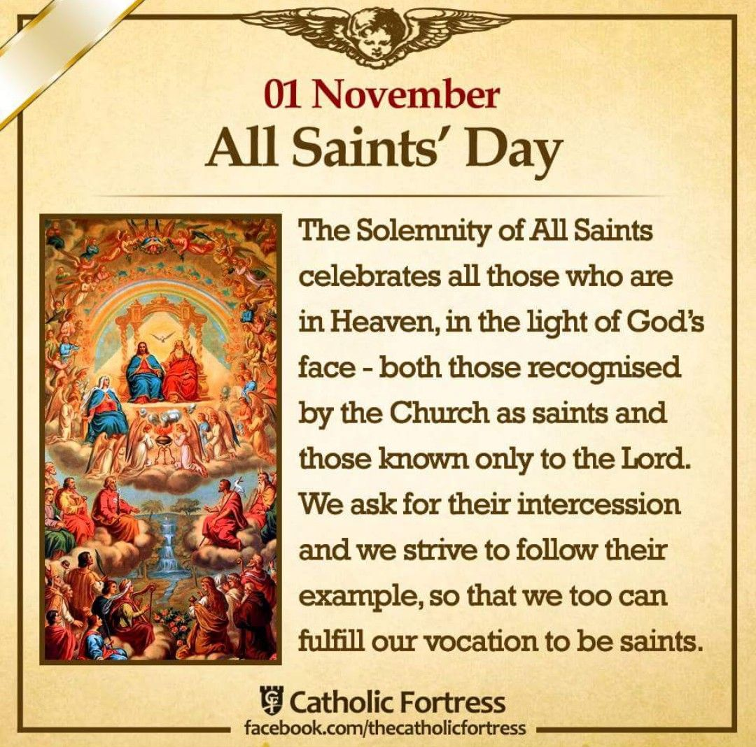 1st November Solemnity Of All Saints