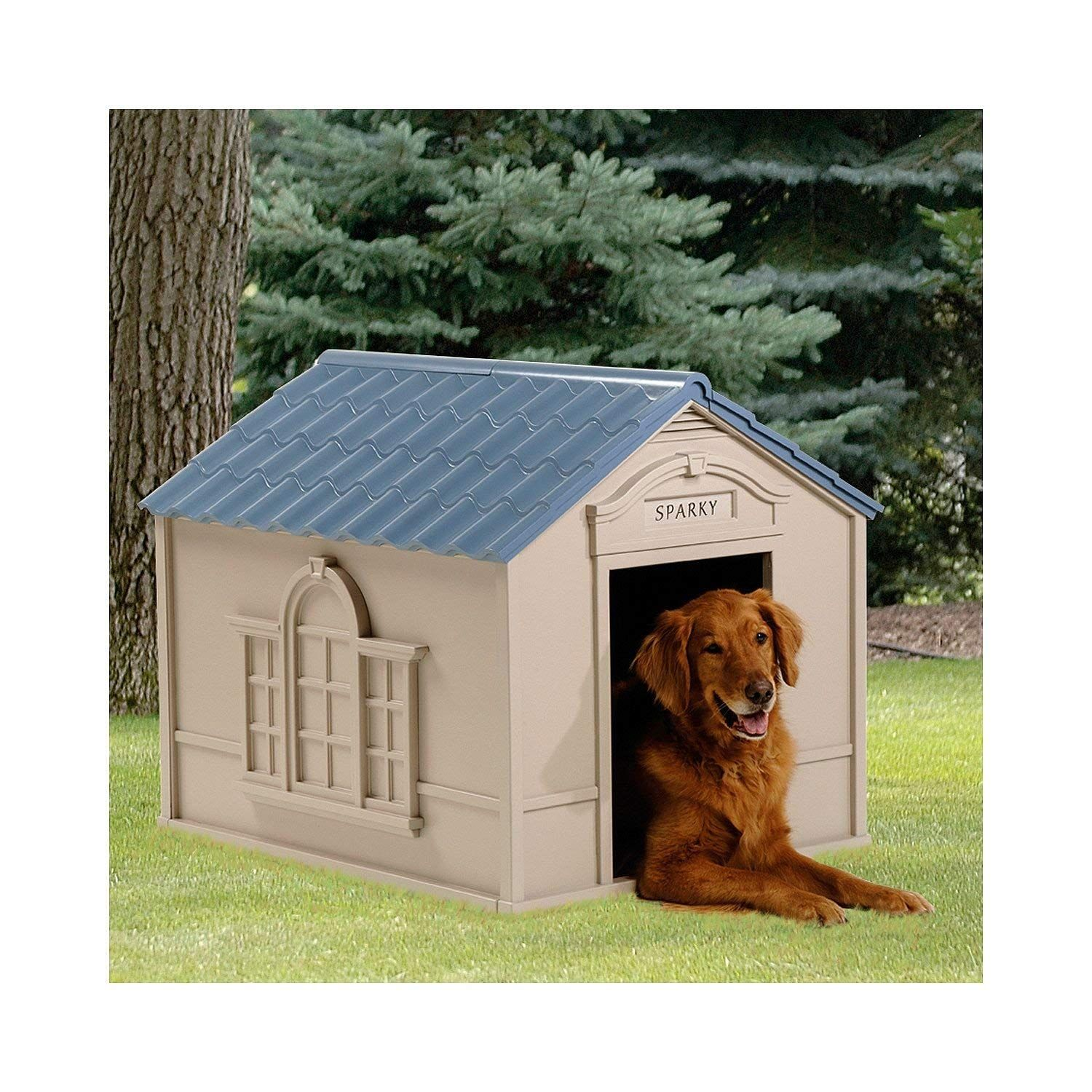 Large Outdoor Dog House Big Pet Kennel All Weather Doghouse Puppy