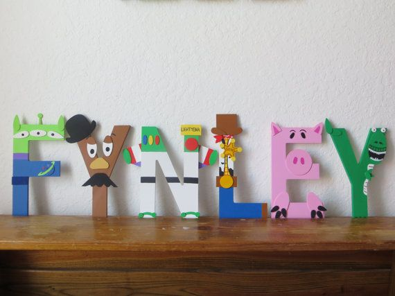 Toy Story Letter Art | Baby Shower ideas for Baby Johnson | Toy