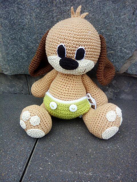 Puppy in a diaper pattern by Ami By D | Hund häkeln, Gehäkelte tiere ...
