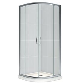 small corner shower kit. DreamLine Prime Chrome Acrylic Floor Round 2 Piece Corner Shower Kit  Actual 74 75