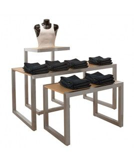 Tiered Display Tables 3 Tier Display Ideas And Inspiration Sarah Quinn Visual Merchandising Consulting Retail Display Store Fixtures Nesting Tables