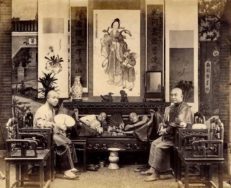 Smoking Opium   Opium Smoking in China circa 1890