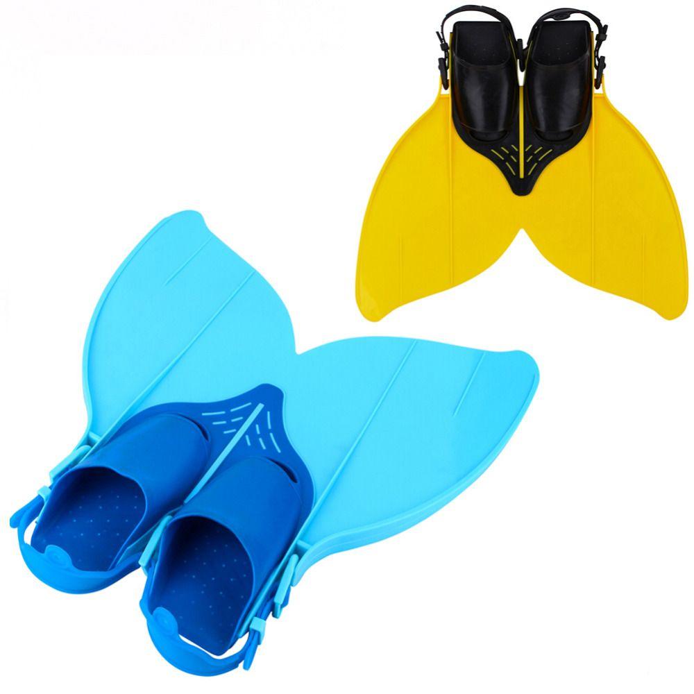 Teen Kids Monofin Mermaid Tail Flippers Mono Fin Diving Swimming Trainer Flipper