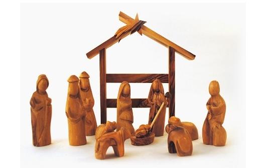 Miniature Modern Nativity Scene Modern Nativity Set Nativity Set Olive Wood