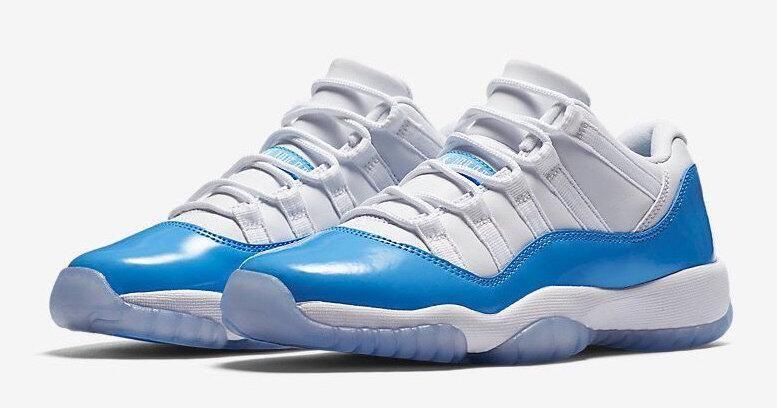 Air Jordan 11 Low UNC Size Run: Mens Color:White/University Blue Style
